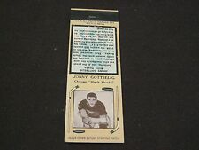 VERY RARE 1936-39 DIAMOND MATCHBOOK COVER  CHICAGO BLACK HAWKS JONNY GOTTSELIG
