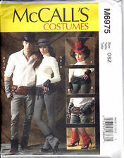 McCall's Pattern 6975 SPATS/GAITORS, FINGERLESS GLOVES, HATS AND BELTS costumes