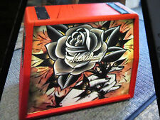 Marshall  1960A Red Tattoo edition 4x12 angle speaker cabinet Vicki Morgan rose