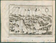 NUSCO, Avellino (Campania). Dall'opera di G.B. Pacichelli. Napoli, anno 1703.