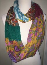 Anthropologie Loop Patch Work W/ Knit Pop Scarf
