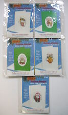 Christmas Greetings Cross Stitch Needlecraft Kits (5) Embossed Cards