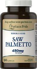 SAW PALMETTO 450 MGR. 100 CAPSULES ( la santé de la prostate et la calvitie )