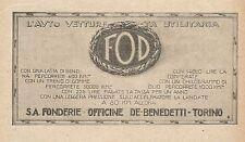 Z0095 Autovettura utilitaria FOD - Pubblicità del 1926 - Advertising