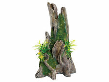 Trunk with Plant Aquarium Ornament Fish Tank Decoration