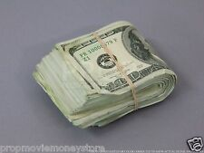 PROP MONEY USED LOOK FAT FOLD $10,000 Blank Filler for Movie, TV, Videos
