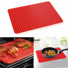 Useful Pan Non Stick Fat Reducing Silicone Cook Mat Oven Baking Tray Sheets EV3