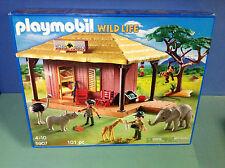 (O5907) playmobil maison safari et bébés animaux en boite 100% complet ref 5907