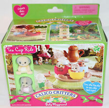 Calico Critters TEA CUP RIDE NEW IN BOX HTF Rare CC1469 Baby Playground