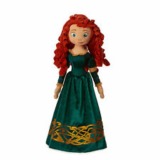 Disney Store Authentic Brave Princess Merida Big Embroidered Plush Toy Doll 20""