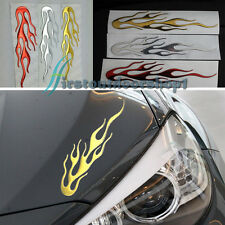 Gold Car Motorcycle 3D Flame Fire Reflective Sticker Vinyl Decal individualized