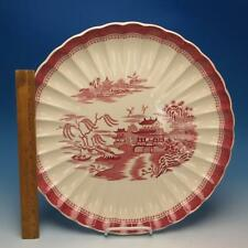 "Spode Copeland China - Mandarin Pink Willow Scalloped - 15"" Round Serving Tray"