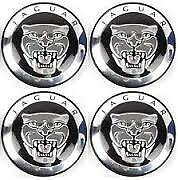 JAGUAR BLACK 59MM ALLOY WHEEL CENTRE CAPS X4 SUIT X TYPE, XJ,X,S,XK,XK8,F,XE,F