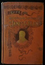 JAMES G. BLAINE, by Theron Clark Crawford - 1893 [Sample Copy] photo portraits