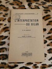 L'interprétation du bilan - E.G. Snozzi - Dund, 1951