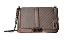 Rebecca Minkoff Handbag Love Quilted Chevron Leather Crossbody Chain Bag NEW