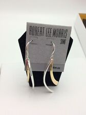 $35 Robert Lee Morris Color Gestured Two Tone Drop Earrings #700