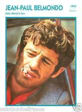 2.JEAN-PAUL BELMONDO ACTEUR ACTOR FICHE CINEMA FRANCE 90s