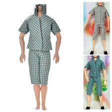 2 Pcs/set Fashion Lattice Shirt Pant for Barbies Ken Color Random New Chic MOP