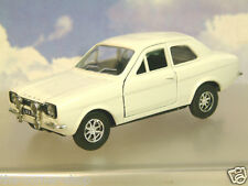 "GREAT SAICO 1/32 DIECAST FORD ESCORT MKI MK1 WHITE WITH PULL BACK MOTOR 5"" LONG"