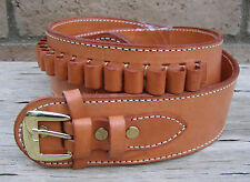 NEW! Deluxe Western TAN Genuine Leather 38/357 cal Cartridge Belt SASS Gun