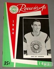 1964-65 AHL Quebec Aces Program Jean-Guy Gendron Cover