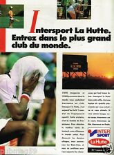 Publicité advertising 1986 Magasin Sport La Hutte Intersport