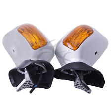 White Left Right Rear View Mirror Signals For Honda Goldwing GL1800 2001-2012 07