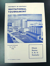 1956 UK Kentucky Wildcats Invitational Program