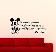 Mickey Mouse Wall Decal Disney Quote Cartoons Vinyl Sticker Decor Art Mural 84ct
