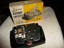 vtg 8 mm / 16mm Automatic  film Splicer  Hollywood  stainless