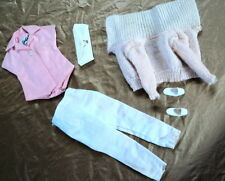 BARBIE PAK SET  WHITE PANTS, SWEATER, BLOUSE, PURSE AND SHOES ALL NICE ~