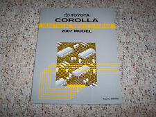 2007 Toyota Corolla Electrical Wiring Diagram Manual CE S LE 1.8L 4Cyl