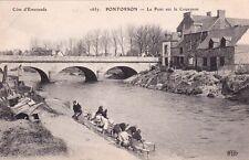 PONTORSON 1657 le pont sur le couesnon lavandières