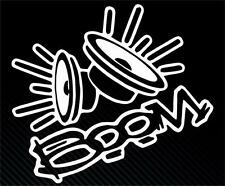 Boom loud speakers  JDM Vdub funny Car Window Bumper Vinyl Decal Sticker