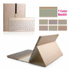 7 Color Backlit Bluetooth Keyboard Leather Case Cover For iPad Air 2 ipad 6