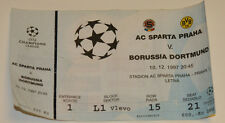 Ticket for collectors CL Sparta Praga - Borussia Dortmund BVB 1997 Czech Germany