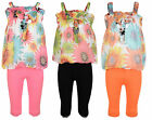 GIRLS FLORAL DRESS LEGGINGS SET SUMMER OUTFIT 2-9 YEARS #20 BNWT