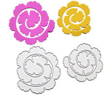 Hot Metal DIY Rose Roll Cutting Die Scrapbooking Album Embossing Stencil