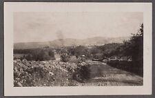 VINTAGE EARLY 1900'S RHODE ISLAND NEW ENGLAND BIRDS EYE VIEW OF TOWN OLD PHOTO