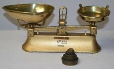 Vintage ​C.W.BRECKNELL LTD Weighing Scales with Set of Brass Weights [PL2299]