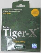 Super Tiger - X / 6 Pills / Male Sex Enhancer Supplement / Super Tiger