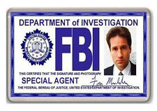 FBI FOX MULDER ID CARD X-FILES FRIDGE MAGNET IMAN NEVERA
