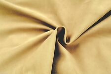 B150 LUXURIOUS PLAIN NATURAL STONE 100% COTTON HEAVY MOLE SKIN MADE IN ITALY