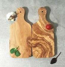 Set of 2 Cutting Boards Olive Wood / Wooden Chopping Herbs Board, handcrafted