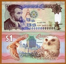 Quebec, Canada, $1, 2016, Private Issue, Essay UNC   Snow Owl, Jacques Cartier