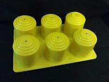 """Yellow Plastic Votive Candle Mold, 6-Pack. Cavities 1 1/2"""" x 1 3/4""""."""