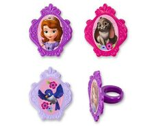Disney Sofia the First Cupcake Rings 24pcs Cake Toppers Decorations Party Favors