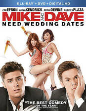 Mike and Dave Need Wedding Dates (Blu-ray/DVD, 2016) No Download Code
