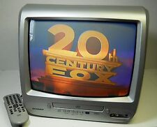 "Sylvania 13"" Color CRT TV / DVD Video Player Combo Television 6513DG Tested"